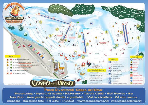 Parco Divertimenti sulla Neve Coppo dell'Orso - Roccaraso - Mappa